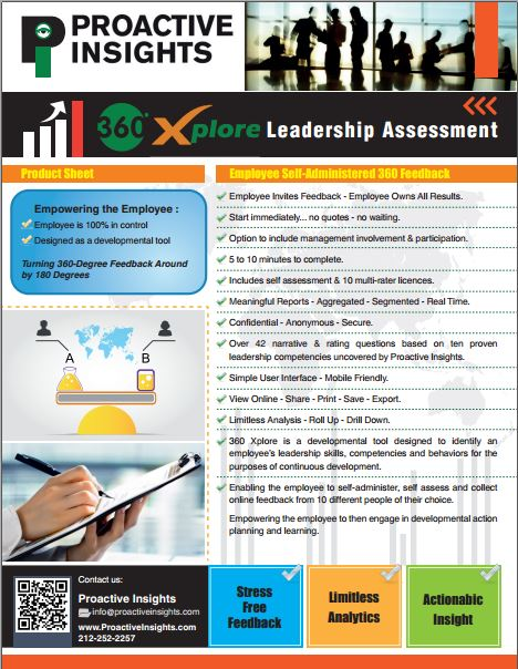360 Xplore - Self Administered 360 Degree Leadership Feedback Assessment Survey